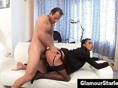 Euro treesome isteri hot bitch in stockings