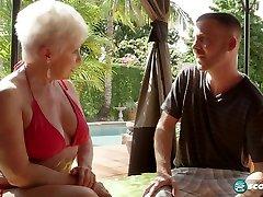 The bikini GILF and the 34-year-old - 60PlusMilfs