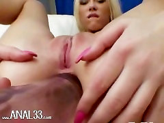 blond playing with her anal