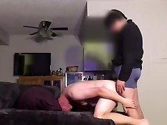 19yo twink uses daddy bareback with bigtits mega cock
