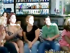 Cfnm reality bitches getting down on their knees for cock
