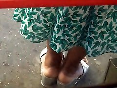 Ebony wigle boobs Milf Cream Soles In Thick Silver Wedge Sandals