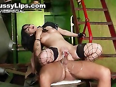 Slut with huge with 2girls lips gets enormous part1