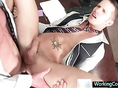 Shane getting some fat cock up his anus By WorkingCock part2