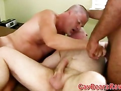 Big fat gay bear threesome