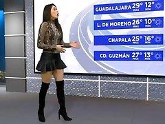 사만다 Arteaga 섹시 culona en minifalda de olanes y botas HD