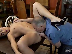 daddy4k. big guy catches girlfriend anna rose and dad rough sex