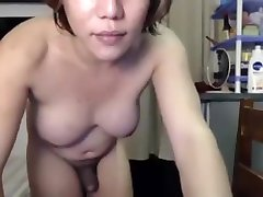 Hot dancing ladyboy lets her dick wiggle all over