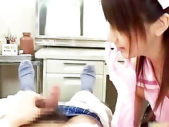 Steamy real real asian nurse enjoys sex part6
