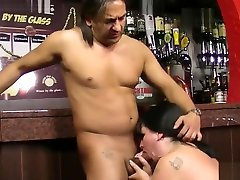 Huge-titted women at work takes it from behind
