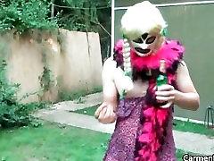 Dirty Carmen in hard core real secreter no bra walking part3