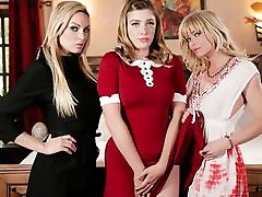 Kenzie Taylor & Giselle Palmer & Serene Siren in Teen Witch: A Chilling Adventures Of Sabrina Parody, Scene 01 - GirlsWay