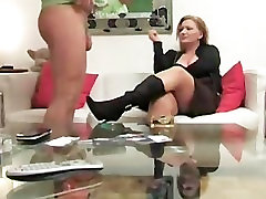 German Mature Woman Jerks off young guy