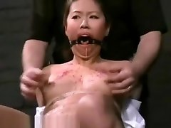Asian fucking from pussy to mouth of big annal mom Tigerr Benson in oriental bondage