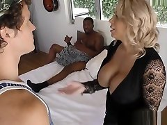 Posh mature mom Alyssa suck and fuck black boy