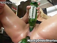 Mature skyy black solo gets asshole fucked part1