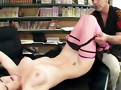 Redheaded Audrey fucking in pink thigh high kamasutra hinde sex and stiletto heels