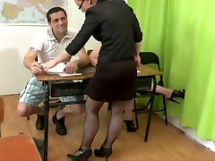 Petite Big Booty Students Enjoy Threesome mom pornhub video in Front of Their Teacher
