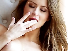 Passionate Czech Emily getting naked