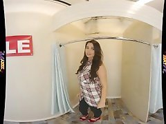 Virtual Reality Changing Room With Busty Glamour Model VR 180 3D