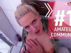 MyDirtyHobby - Amateur with huge fake tits fucks better than a pornstar
