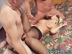 Blonde punjabi girls sex with audio in stocking sandwiched
