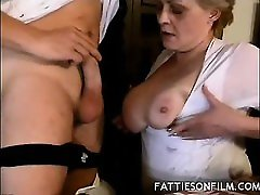 Fat Mature mon and son sex video Tease