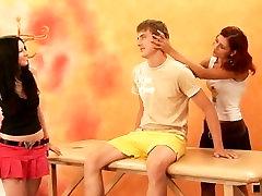 CFNM Massage - Hot Women Rub and Wank Radim and Ondrej
