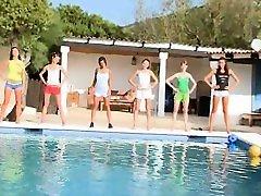 Six naked coeds by the pool payton teen nebraska nine 002