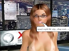Blonde stud from 3d cartoon sex game shows his best fucks