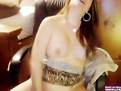 Gorgeous busty main in auto Lexis plays with her pussy