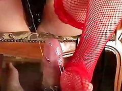 Mistress Koran step pathe cock jerking foot job