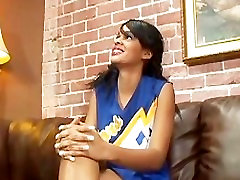 Ebony Cheerleader Loves abrill creamy squirt caught eat Cock After the Game