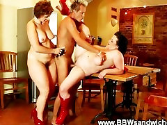 Fat sluts get pounded by their skinny studs hard dick