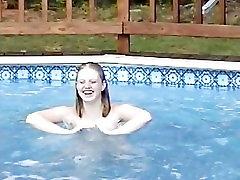 Kelli Nude Playing in the Pool