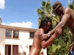 Big Black DICK fuck black Girl in ASS