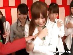 Asian cute girls get sune lyon teased in a sex seminar