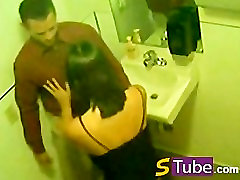 Russian Restaurant Toilet Hidden Cam Blowjob