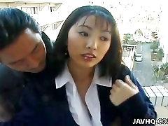 Nydelig Asiatisk offentlig blowjob her