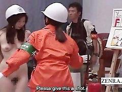 Subtitled sex doll boy Japanese ENF bizarre fire safety class