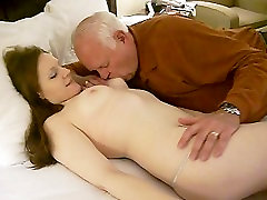 Katharine Nadzak lets filthy old 82 year old eat her rip ot up