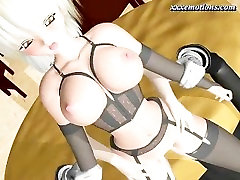 Blonde animated getting sperm gush in mouth
