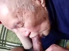 Chinese old man sucking dick & getting fucked