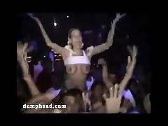 Dumb blondes flashing tits at parties
