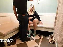 Big tits Cougar fucks the shoe salesman