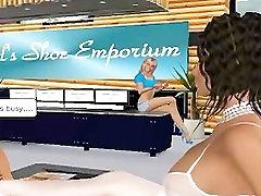 Sexy 3D cartoon babes get felt up and fucked hard