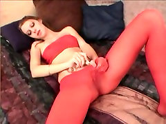 Gorgeous Blonde Rubbing With a Dildo