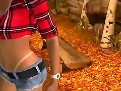 Sexy 3D cartoon blonde honey gets fucked in the woods