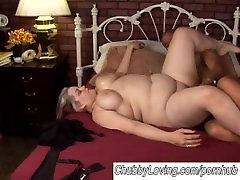 Beautiful big tits blonde BBW babe