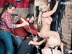 CrowdBondage - Submissive PAWG the charm of virgin Fesser Bound And Fucked - ForBondage
